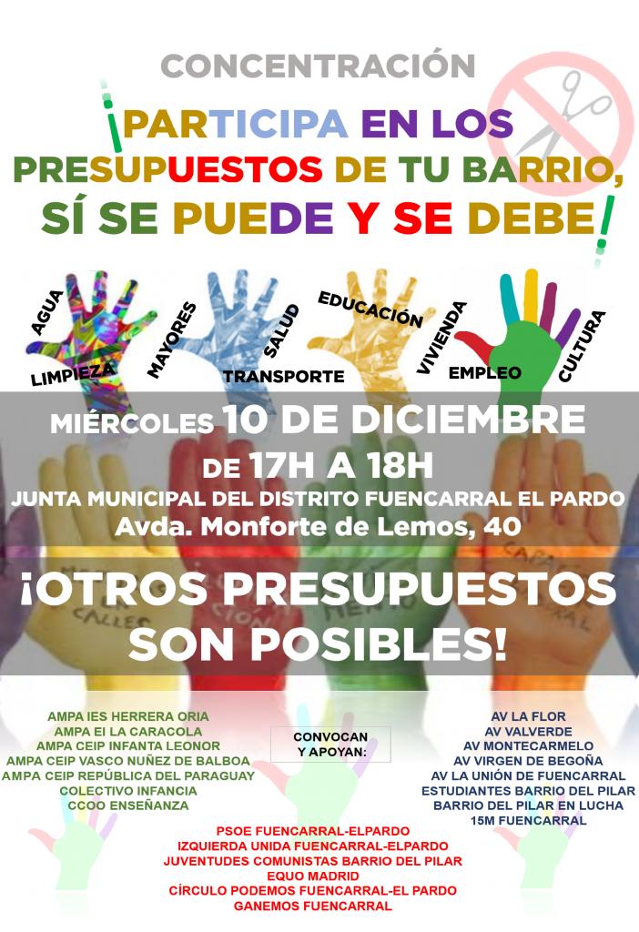 CARTEL PRESUPUESTOS DISTRITO FUENCARRAL 2015 10D v03p