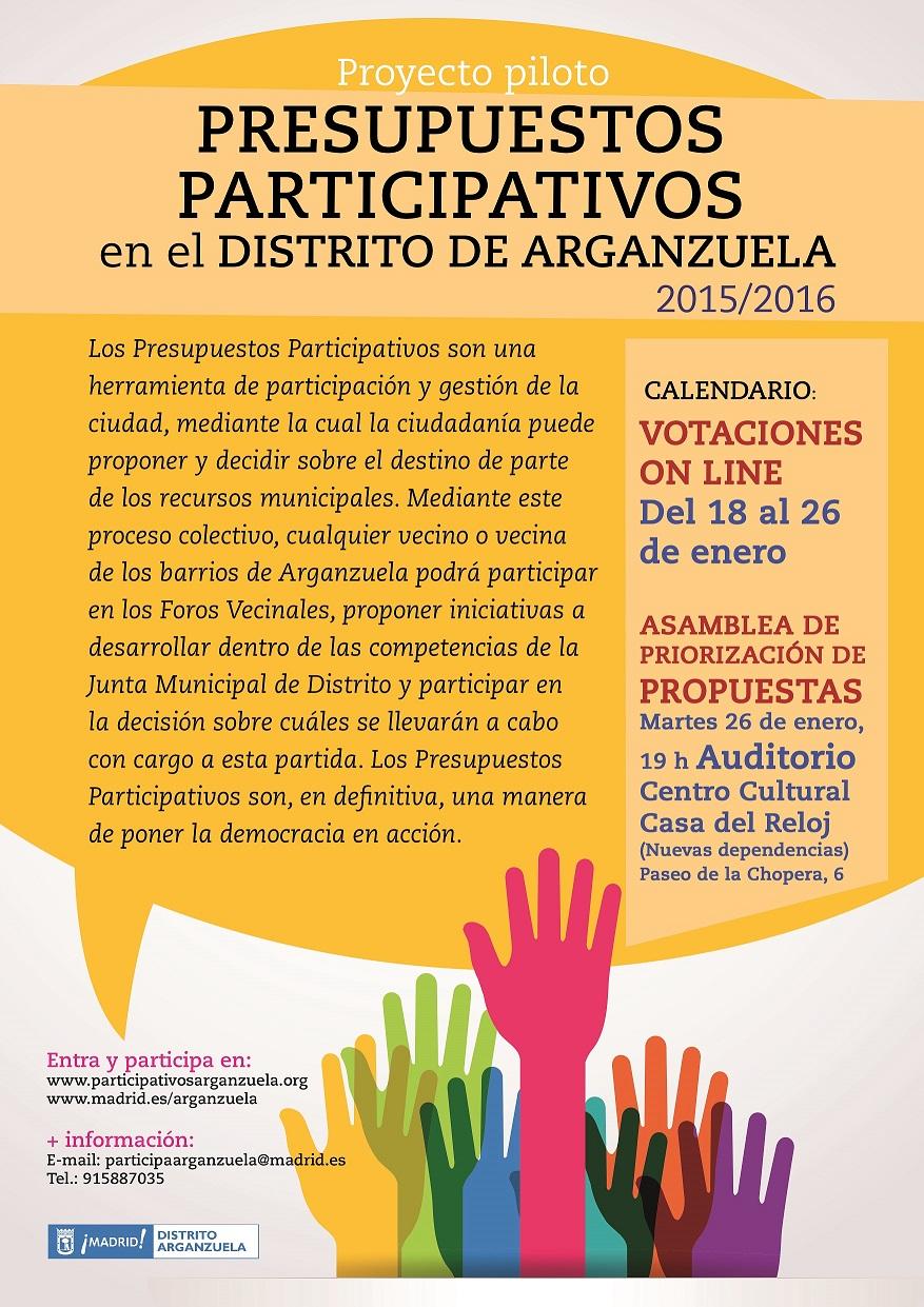 Presupuestos Participativos en Arganzuela